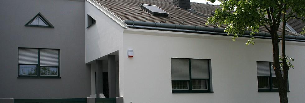 Fassadengestaltung weiß grau  FPE-Groß  FASSADEN - PUTZE - ESTRICHE  Burgenland